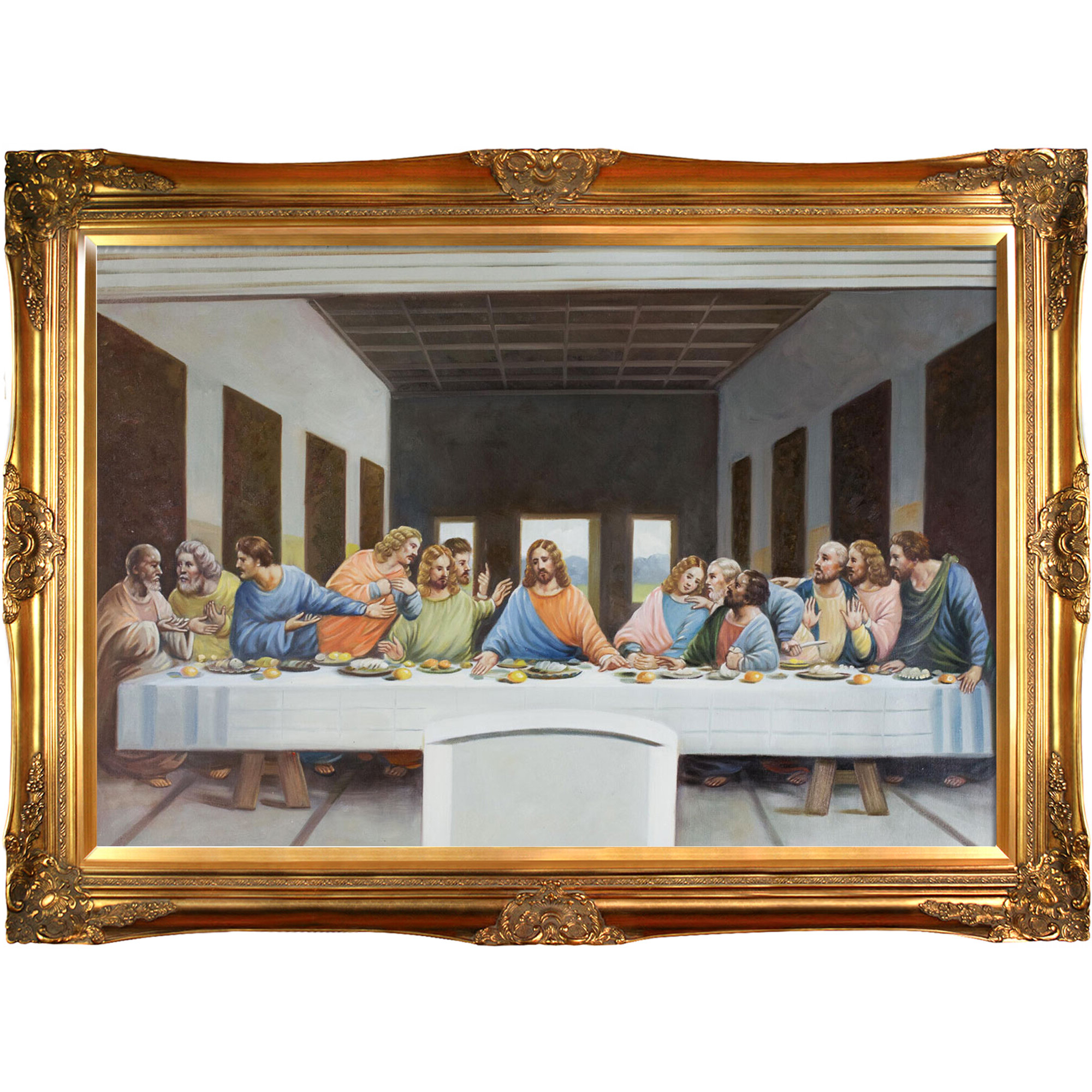 Well Liked Art Prints Jesus Christ The Last Supperleonardo Da Vinci In Blended Fabric Leonardo Davinci The Last Supper Wall Hangings (View 20 of 20)