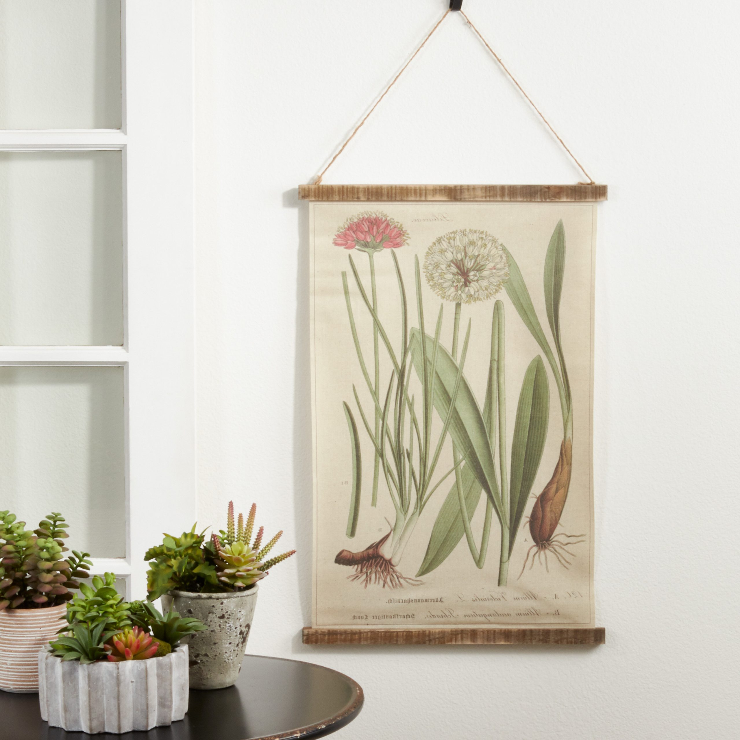 Well Liked Blended Fabric Clancy Wool And Cotton Wall Hangings With Hanging Accessories Included For Linen Botanical Design With Rod Included (View 11 of 20)