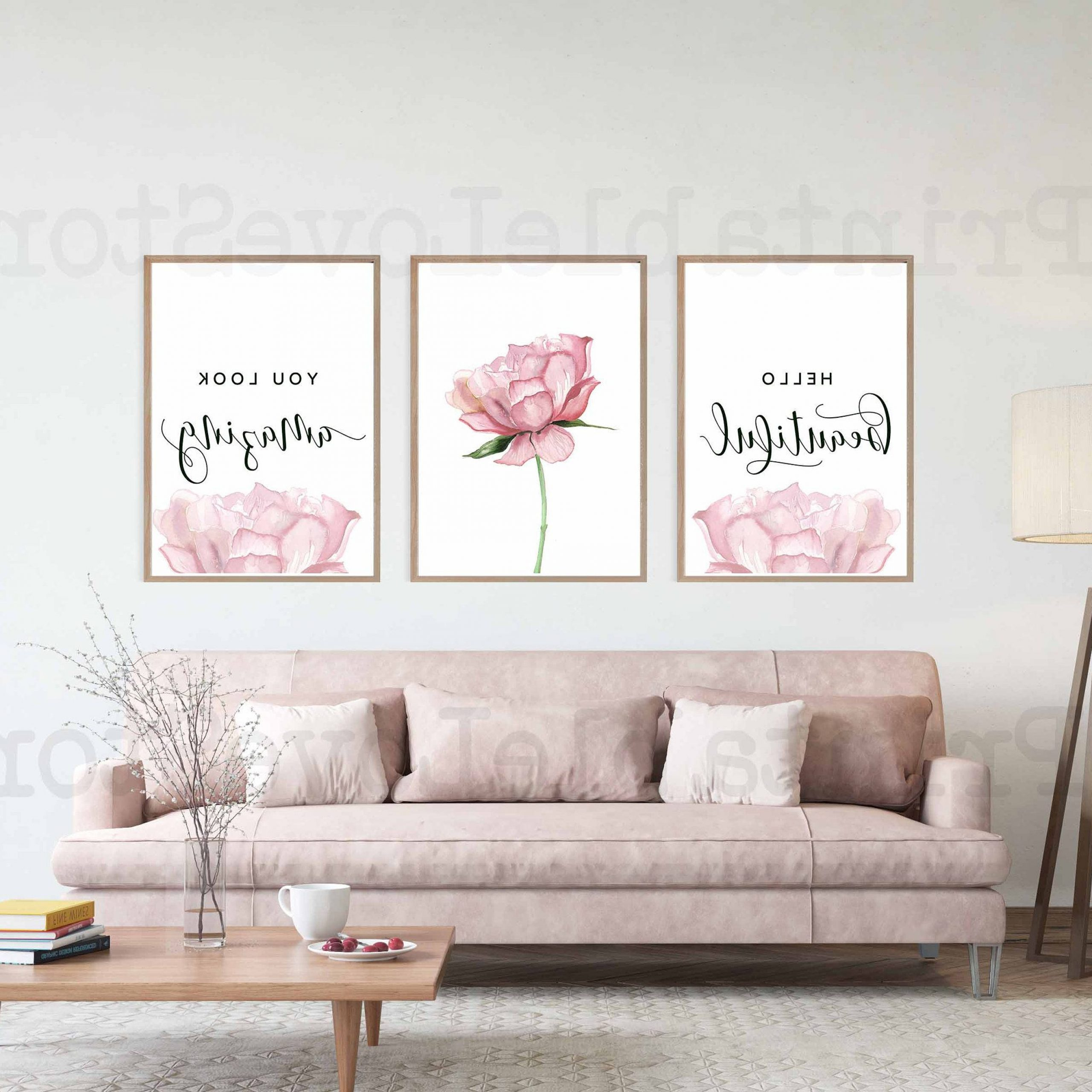 Well Liked Blended Fabric Hello Beauty Full Wall Hangings For Hello Gorgeous Print,hello Beautiful,blush Pink Wall Art (View 3 of 20)
