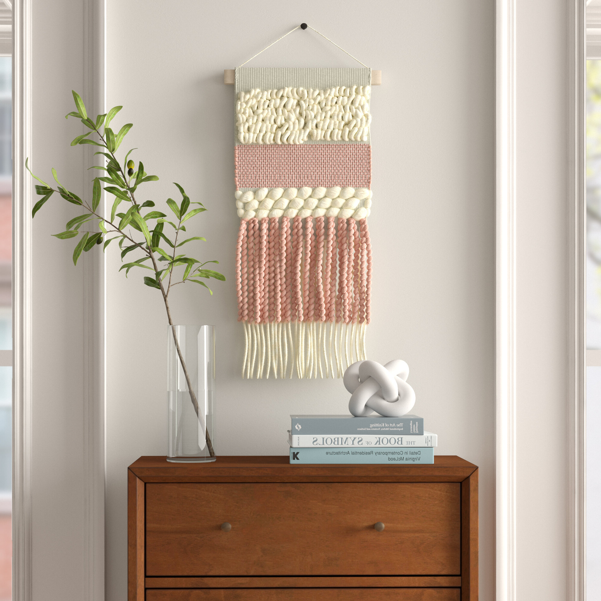 Well Liked Blended Fabric Hohl Wall Hangings With Rod Pertaining To Wall Hanging With Hanging Accessories (View 4 of 20)