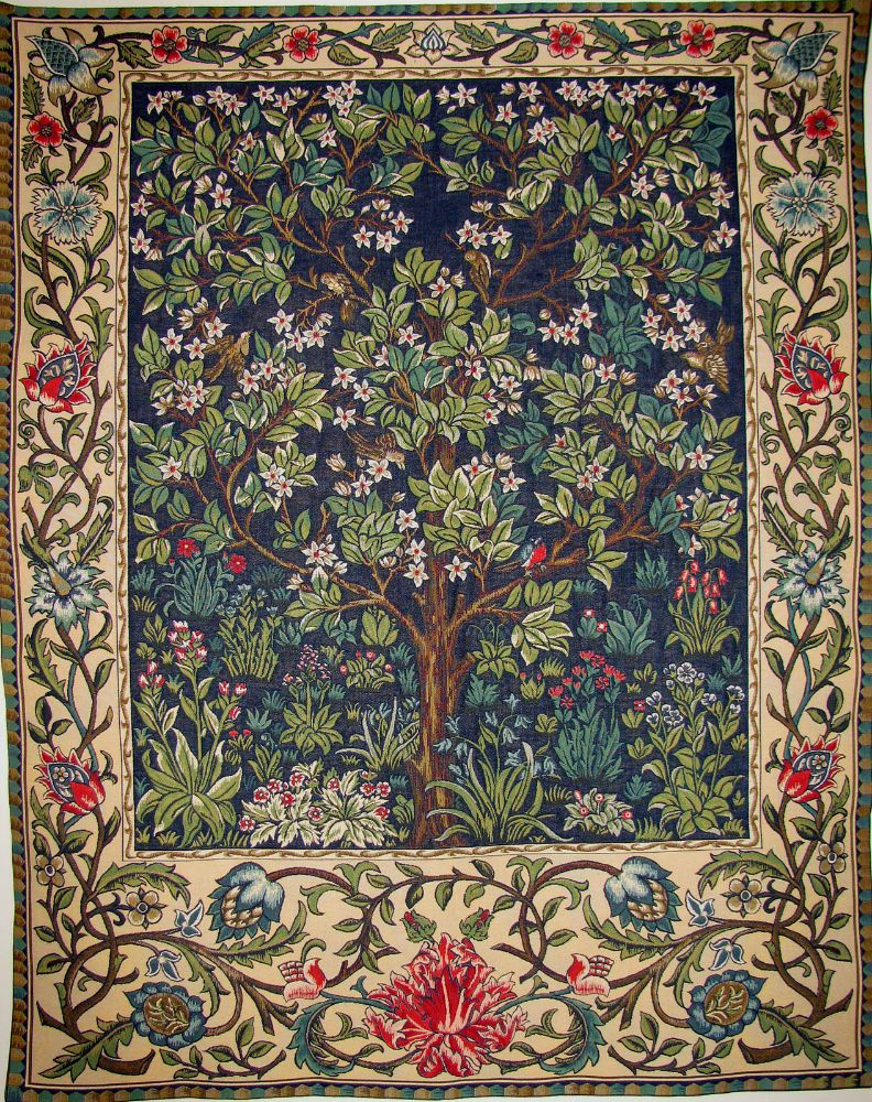 Well Liked Blended Fabric Living Life Bell Pull Wall Hangings Intended For The Tree Of Life Tapestry Wallhanging – William Morris Wall (View 16 of 20)