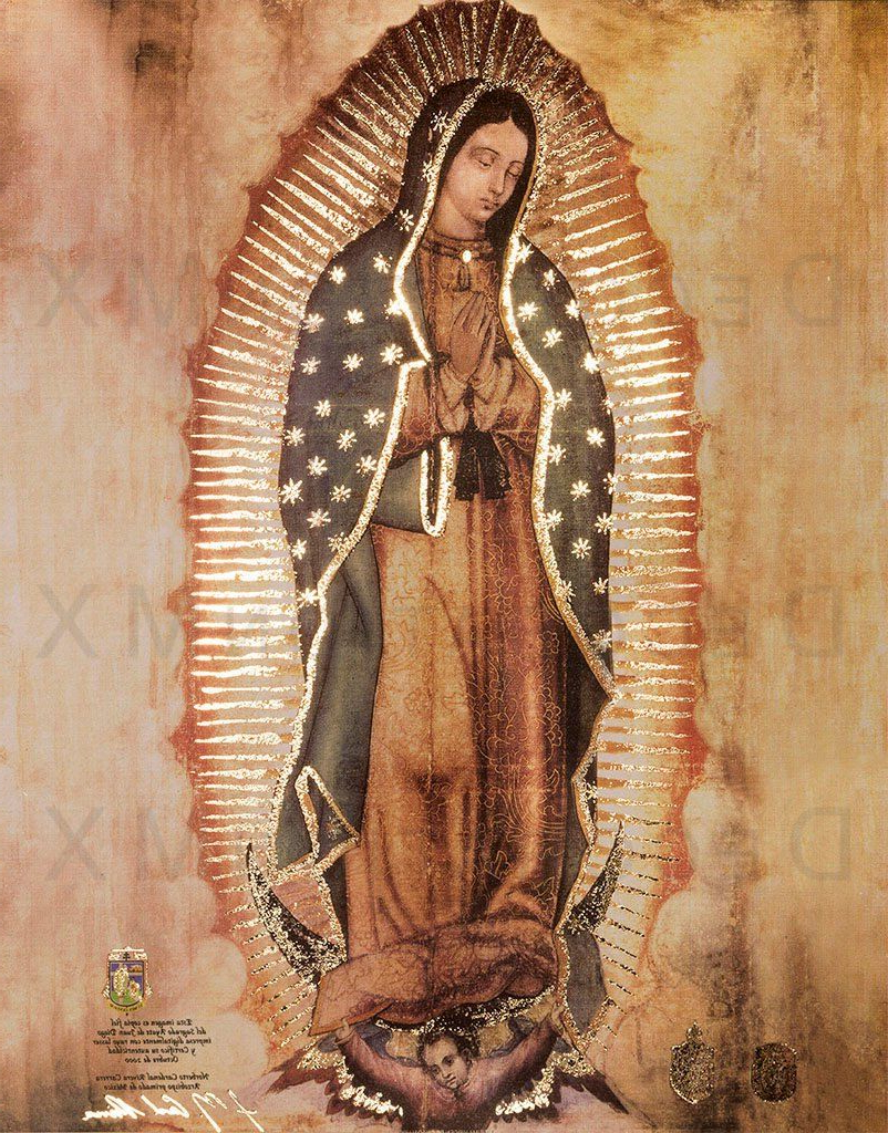 Well Liked Blended Fabric Our Lady Of Guadalupe Wall Hangings With Pin On Arte (View 7 of 20)
