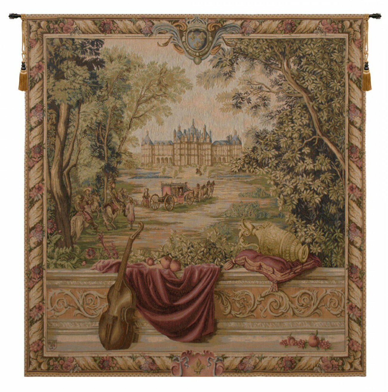 Well Liked Blended Fabric Verdure Au Chateau Ii European Tapestries Intended For Verdure Au Chateau I European Tapestry (View 2 of 20)