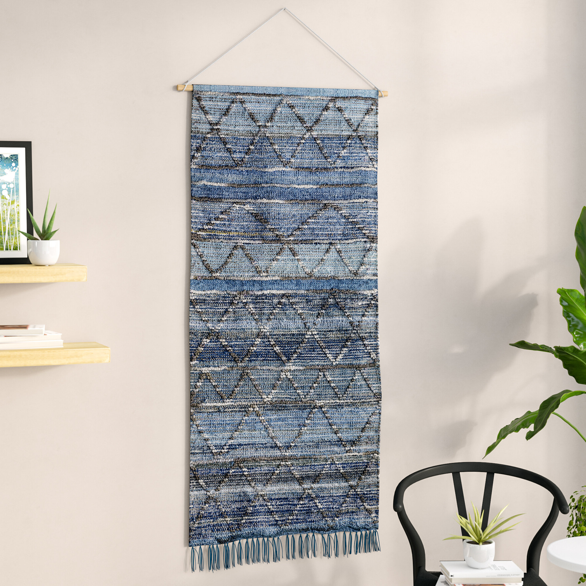 Well Liked Blended Fabric Wall Hanging With Hanging Accessories Included In Blended Fabric Saber Wall Hangings With Rod (View 5 of 20)