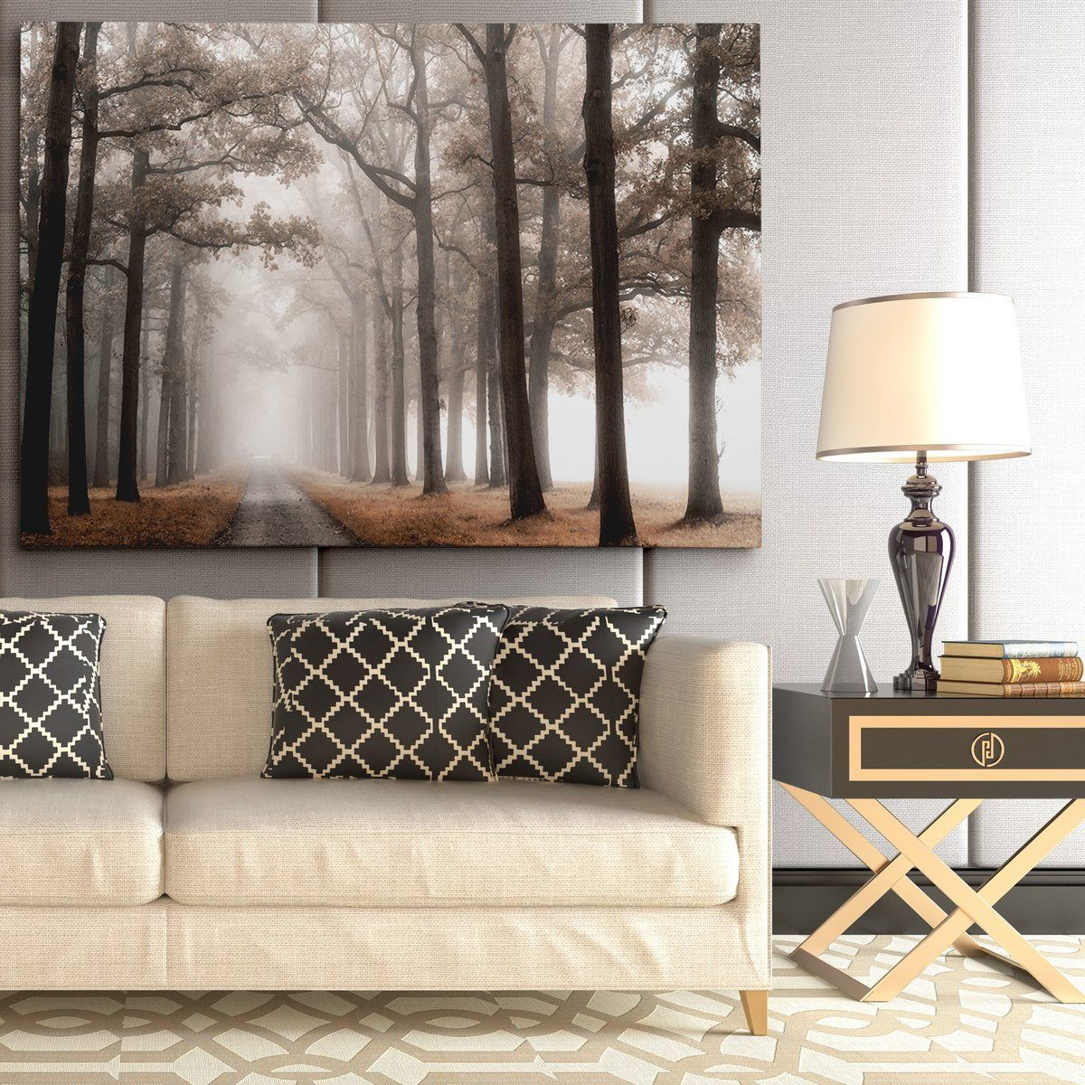 Well Liked Charlton Home 'misty Road' Photographic Print On Wrapped Inside Wall Décor By Charlton Home (View 13 of 20)
