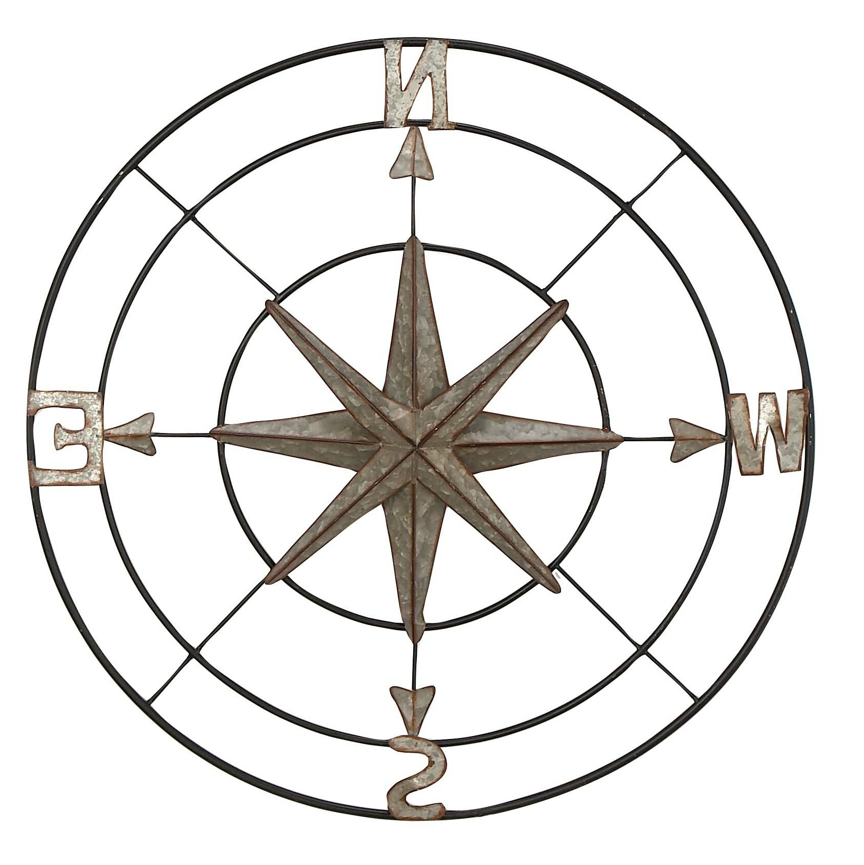 Well Liked Compass Metal Wall Décor By Beachcrest Home Intended For Wall Décor (View 12 of 20)