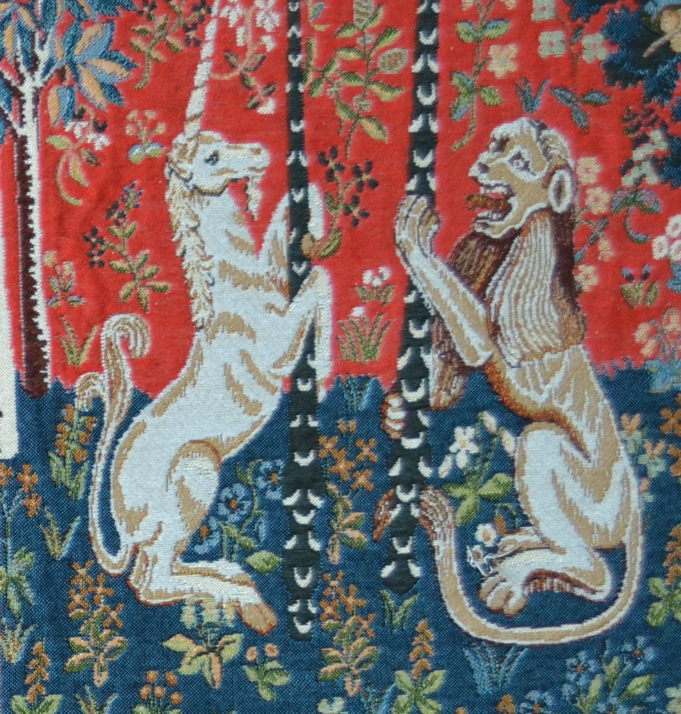 Well Liked Lion I European Tapestries Intended For Unicorn Series Lion And Unicorn Tapestry Cushion Cover ~ H (View 4 of 20)