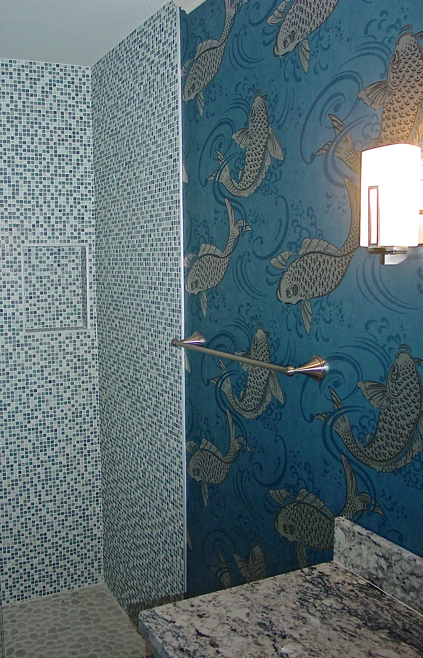 Well Liked Osbourne Wall Décor By Wildon Home With Regard To Powder Room: Showering With Shimmering Silvery Fish (View 14 of 20)