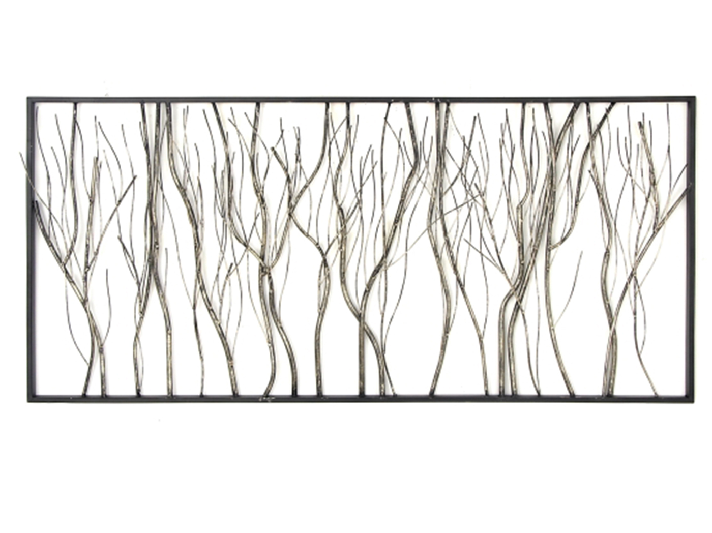 """Well Liked Rectangular Metal Wall Décor With Branches Metal Wall Decor 48""""w X 22""""h (View 8 of 20)"""