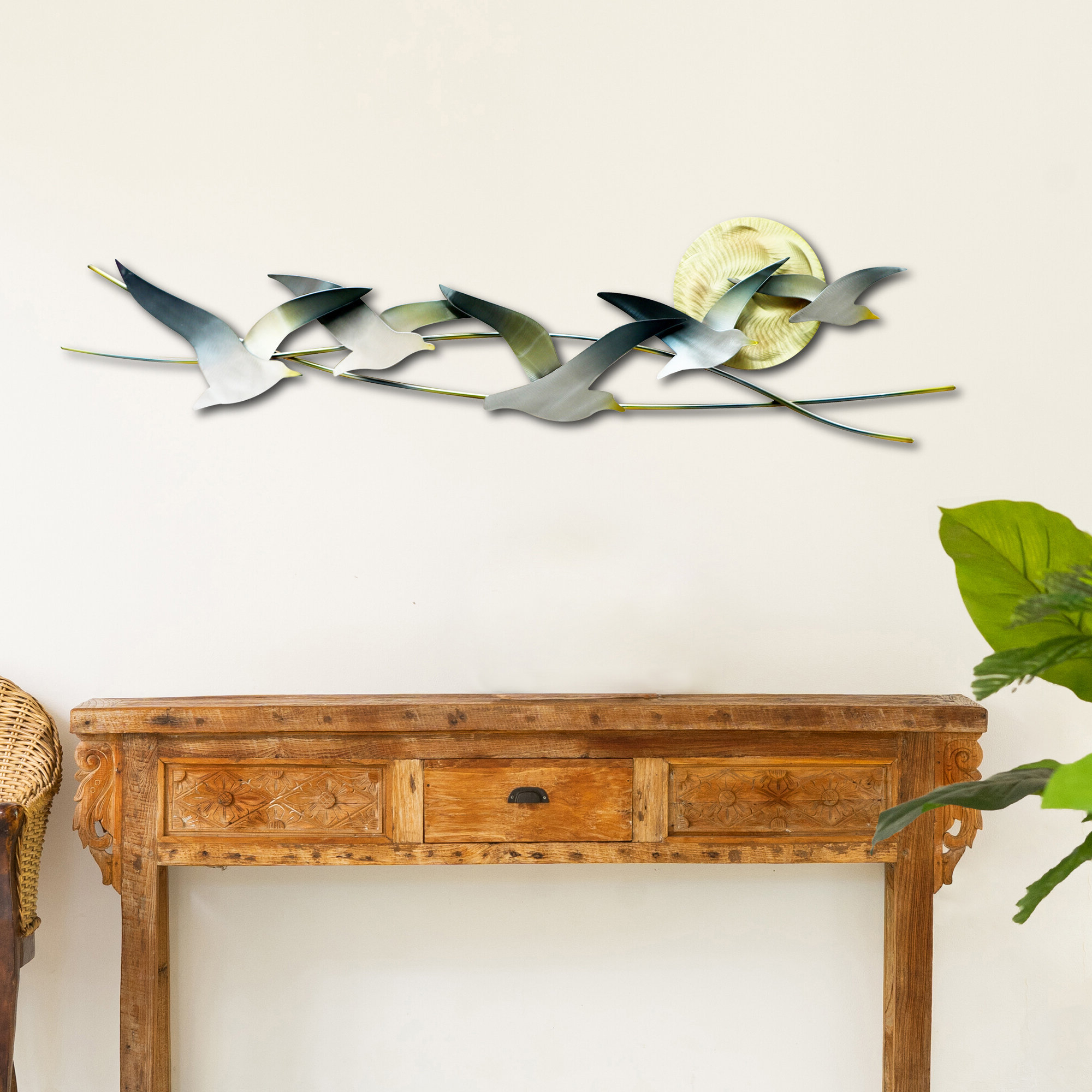 Well Liked Seagulls 5 With Sun Metal Wall Décor Regarding Metal Birds Wall Décor By Beachcrest Home (View 7 of 20)