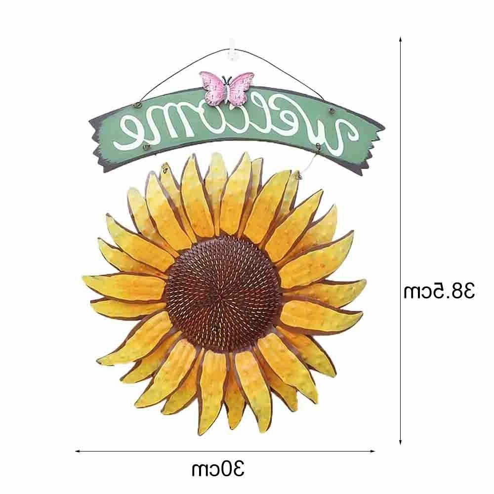 Well Liked Sunflower Welcome Sign Decorative Vintage Metal Wall Hanging Home Garden Decor With Regard To Metal Captains Quarters Sign Wall Décor (View 17 of 20)