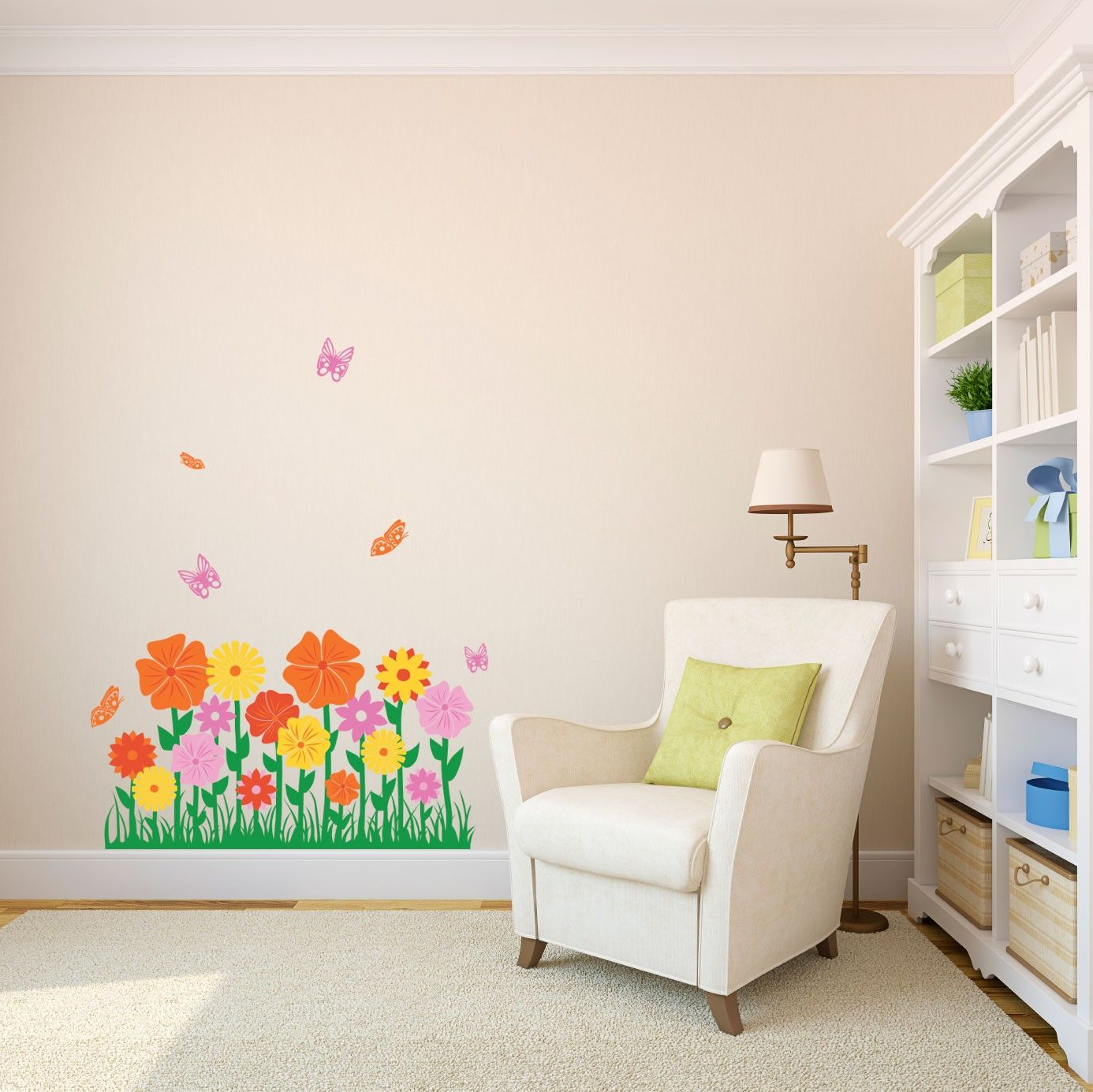 Whimsical Flower Wall Décor Inside 2020 Whimsical Flower Hedge – Vinyl Wall Art Decal For Homes (View 15 of 20)