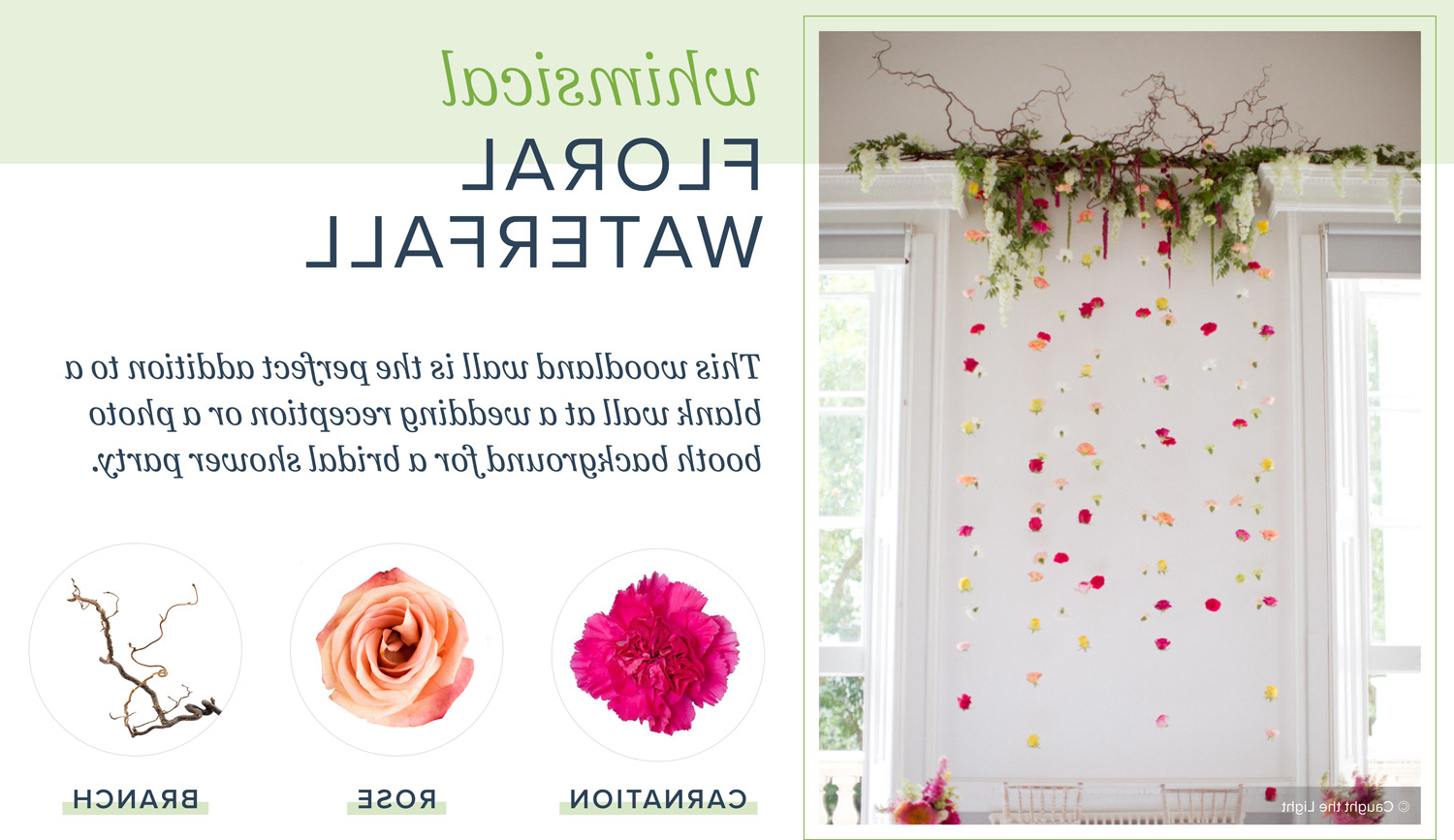 Whimsical Flower Wall Décor With Famous Diy Flower Wall For Any Occasion (View 10 of 20)