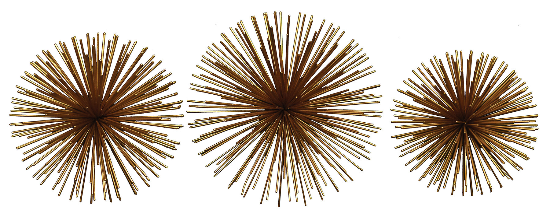 Widely Used Alvarez Starburst Wall Décor With Regard To 2 Piece Starburst Wall Décor Set By Wrought Studio (View 3 of 20)