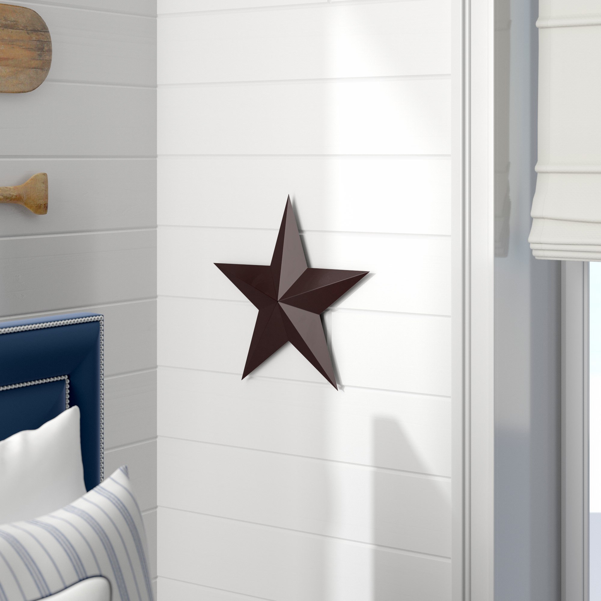 Widely Used Barn Star Wall Décor (set Of 2) Within 2 Piece Metal Barn Stars Wall Décor Set (View 5 of 20)