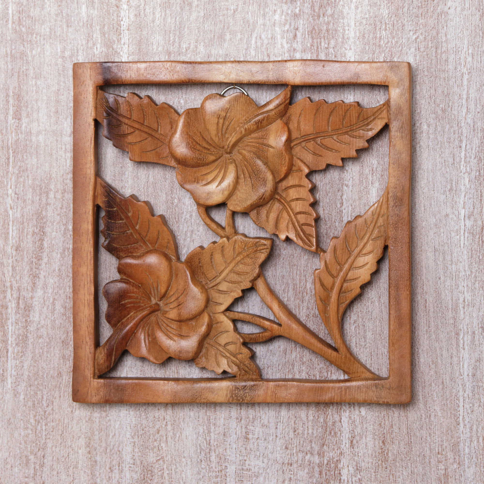 Widely Used Hibiscus Window Relief Panel Wood Wall Décor With Brown Panel Wall Décor By World Menagerie (View 6 of 20)