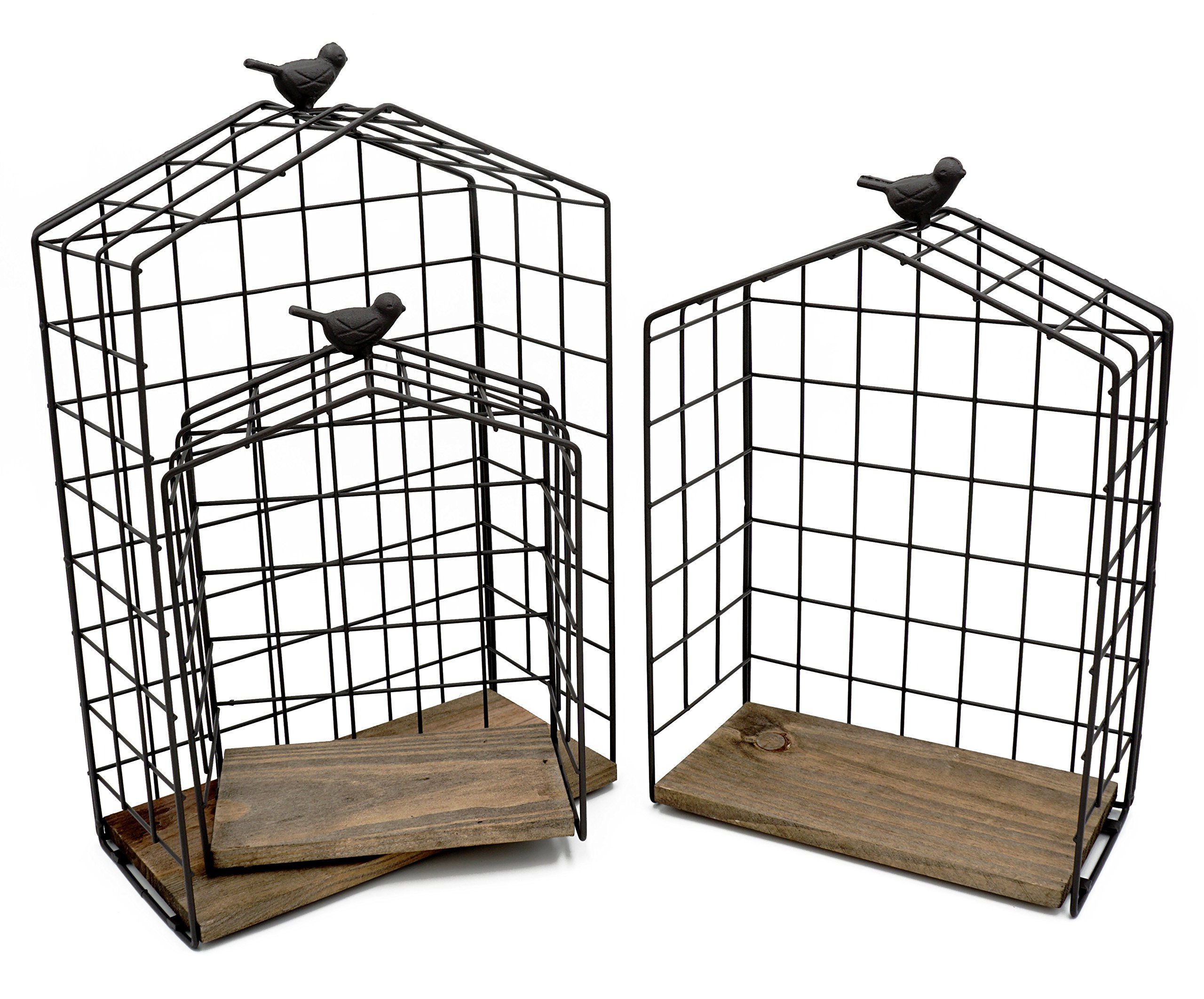 Widely Used Kekabox Set Of 3 Decorative House Shaped Floating Shelves In Birds On A Wire Wall Décor By Winston Porter (View 15 of 20)