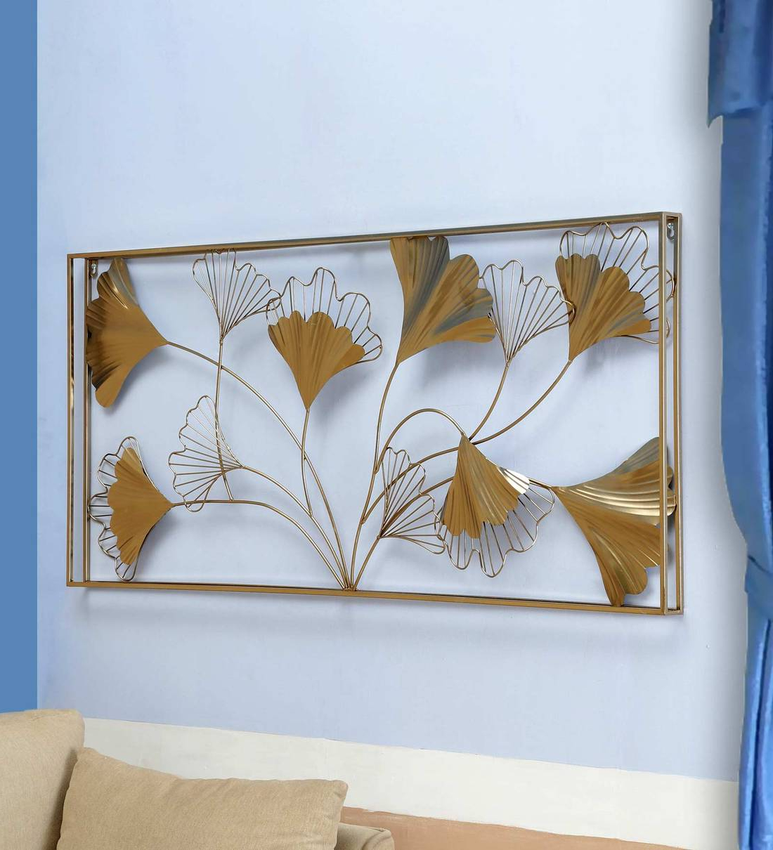 Widely Used Metal Leaf Panel In Golden Wall Art For Blended Fabric Leaves Wall Hangings (View 16 of 20)
