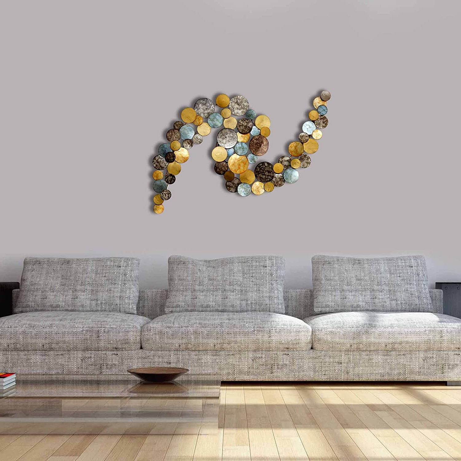 Widely Used Multi Circles Wall Décor Throughout Amazon: Decorlives Large Multi Finish Small Circles (View 8 of 20)
