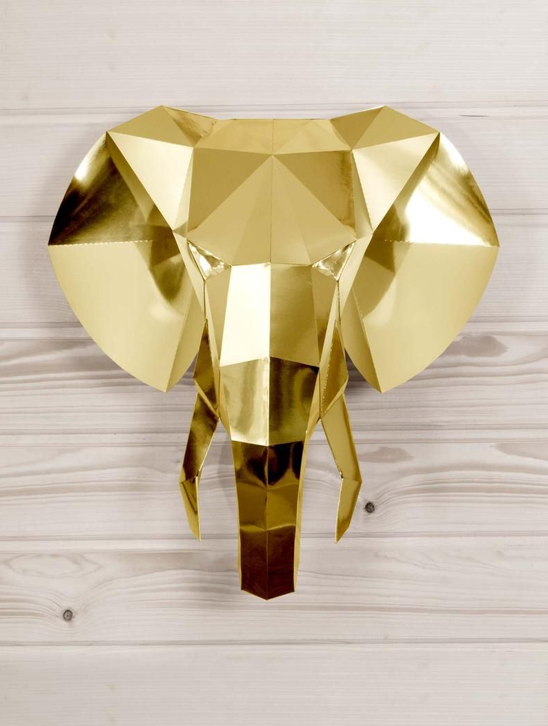 Widely Used Papercraft Elephant Wall Decor (View 13 of 20)