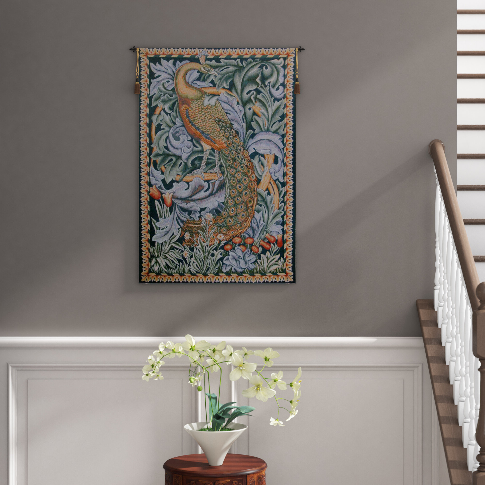 Widely Used Peacock European Tapestry Regarding Blended Fabric Peacock European Tapestries (View 2 of 20)