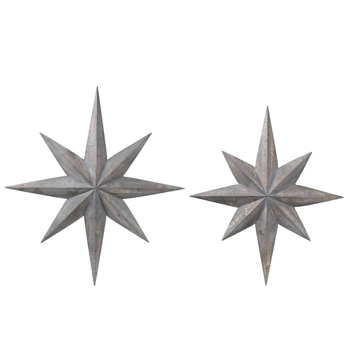 Widely Used Utc40891: Wood Bursting Star Wall Decor With Metal Back Hanger Set Of Two Washed Finish Gray Within Barn Star Wall Décor (set Of 2) (View 12 of 20)