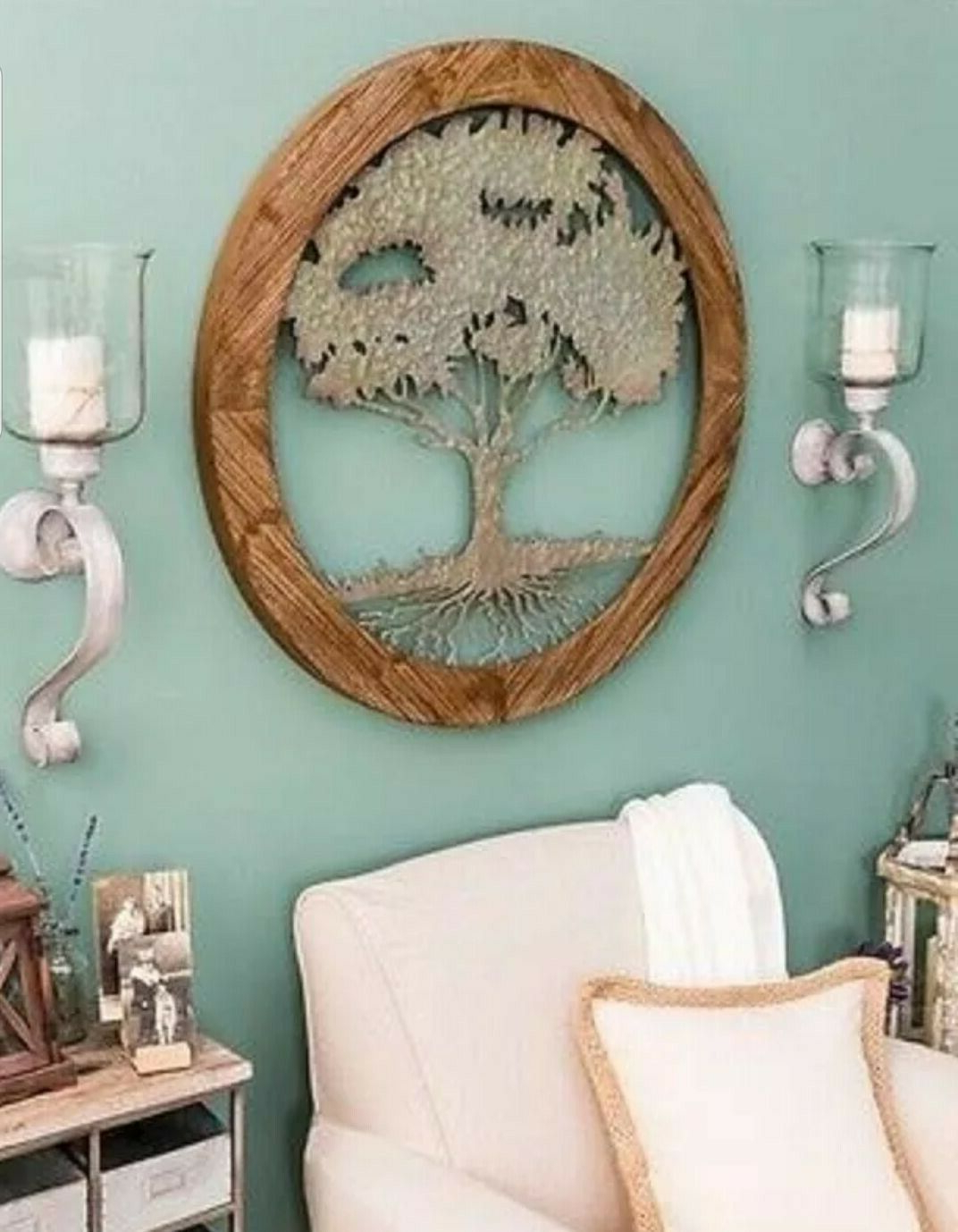 Wing Wall Décor By One Allium Way In Well Known Round Tree Of Life Rustic Carved Wood And Distressed Metal Home Lodge Wall Decor (View 10 of 20)