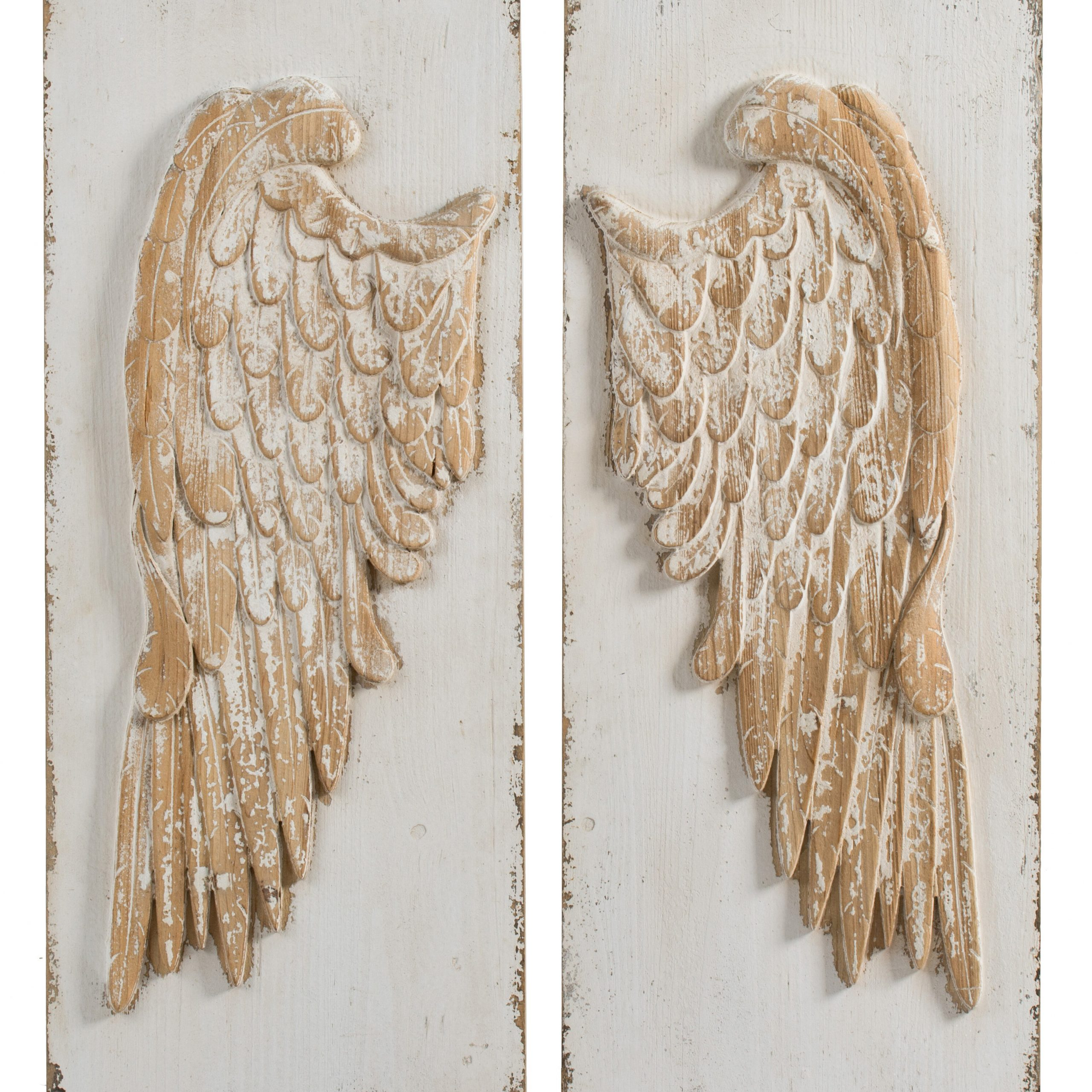 Wing Wall Décor By One Allium Way Regarding Best And Newest Wall Decor – Whitewash Natural (View 20 of 20)