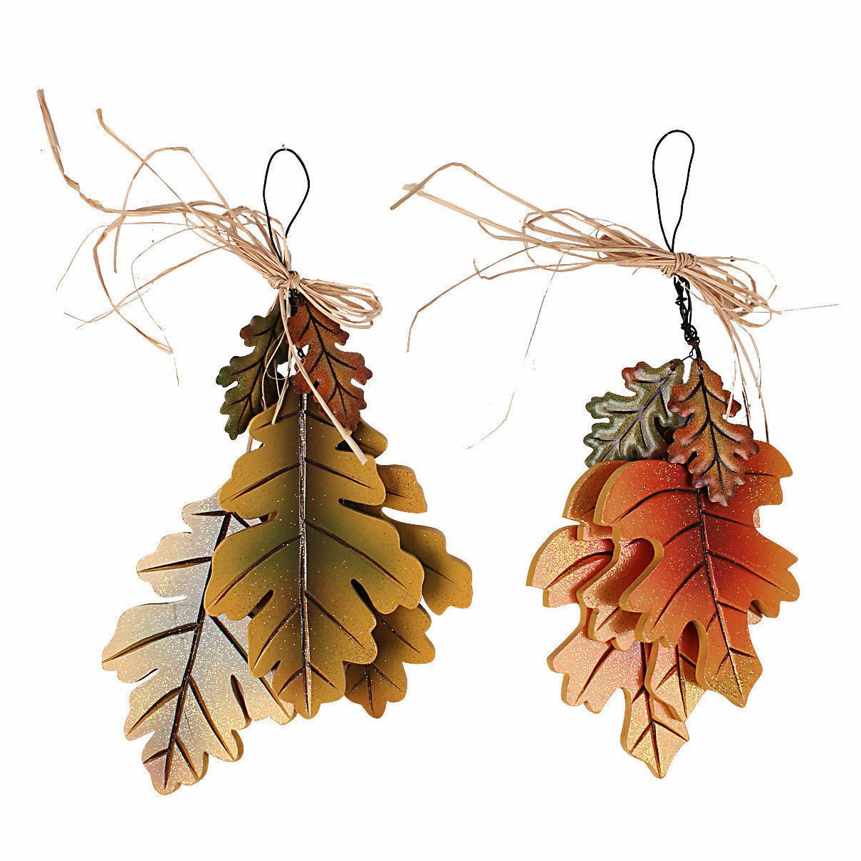 Wing Wall Décor By One Allium Way Regarding Well Known Fall Harvest Thanksgiving 2 Piece 3 Leaves Cluster Wall Hanging Décor Set (View 9 of 20)