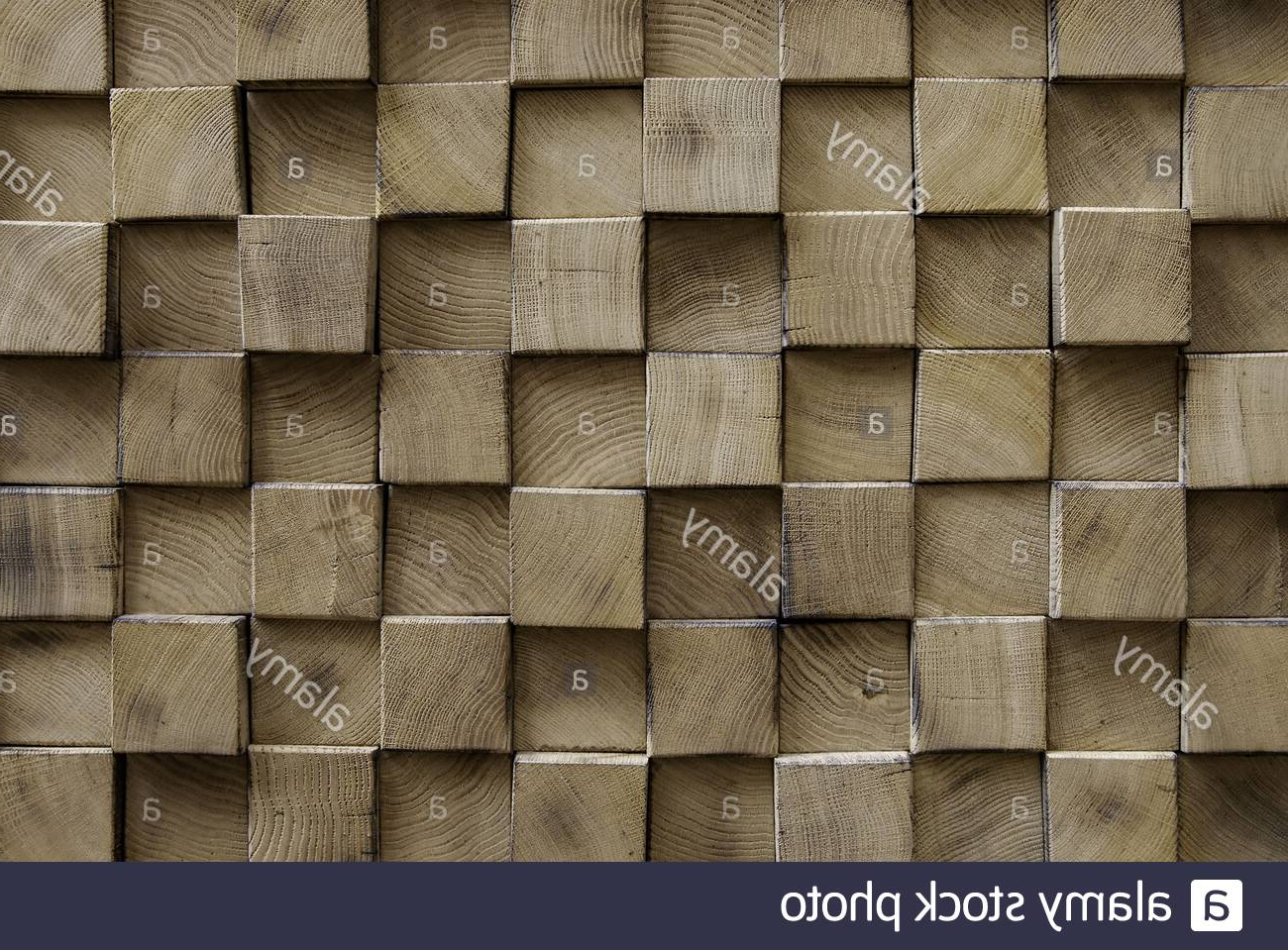 Wooden Square Wall, Decoration Detail Stock Photo – Alamy Throughout 2020 Square Wood Wall Décor (View 19 of 20)
