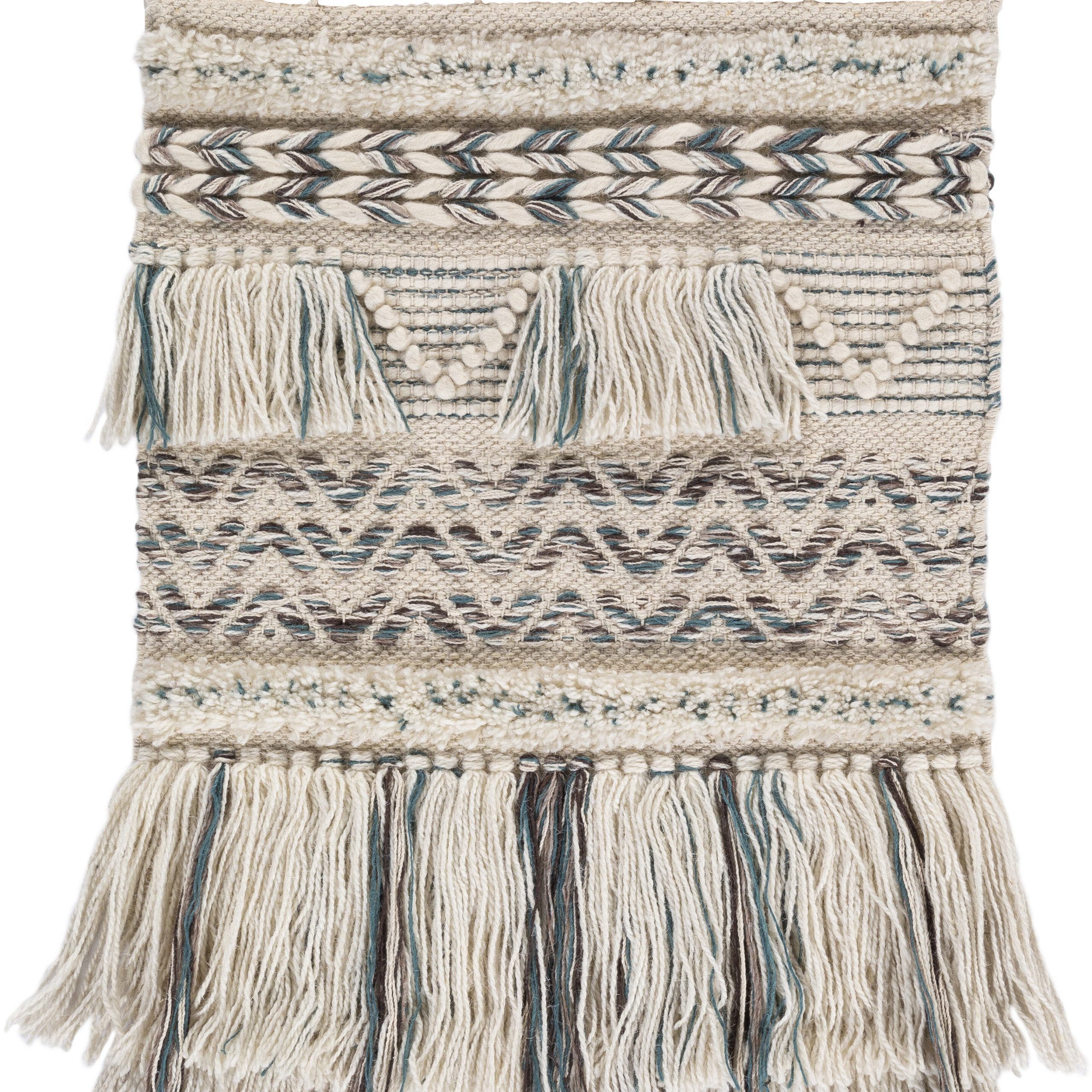 Wool Global Wall Hanging With Rod Included Inside Trendy Blended Fabric Saiful Wall Hangings With Rod (View 15 of 20)