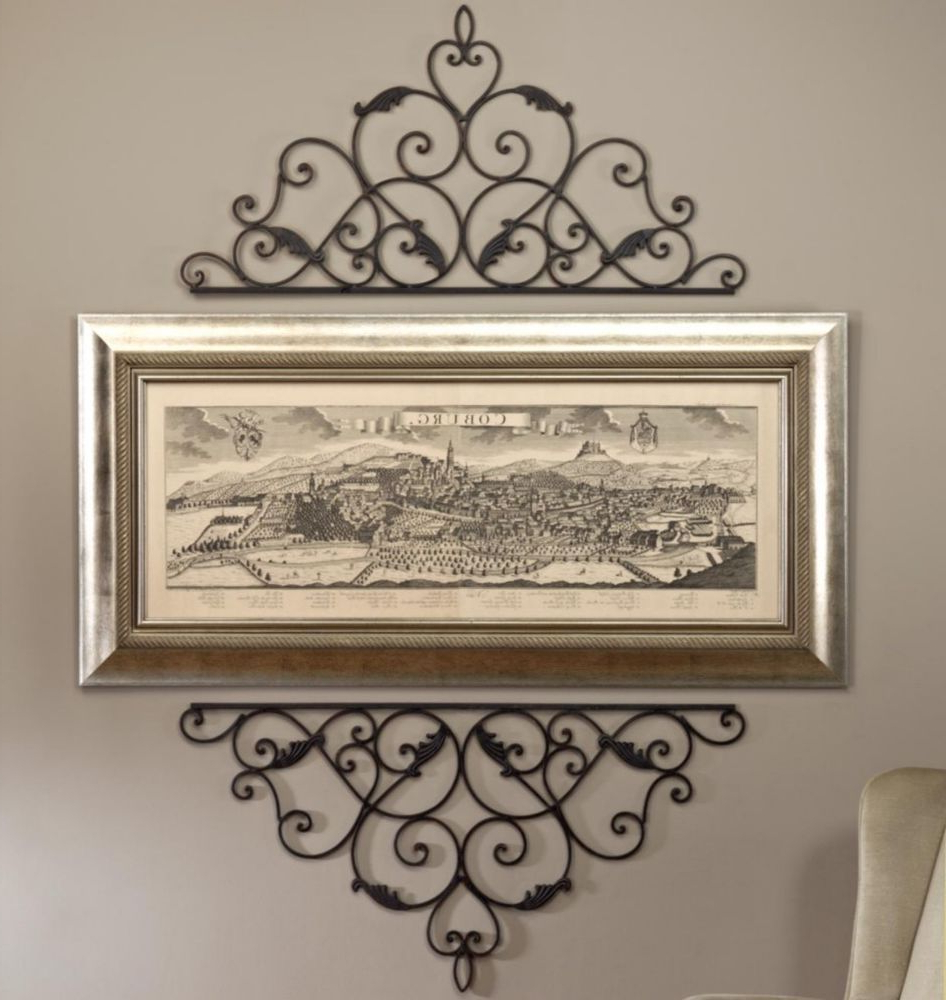 Wrought Cast Iron Metal Decorative Wall Scroll For Picture With Popular Antique Iron Alloy Wall Décor (View 9 of 20)