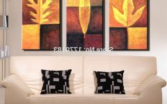 Abstract Leaves Wall Art