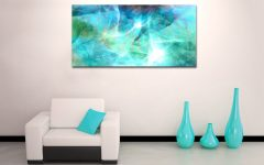Aqua Abstract Wall Art