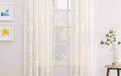 Alison Rod Pocket Lace Window Curtain Panels