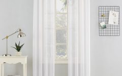 Erica Crushed Sheer Voile Grommet Curtain Panels