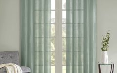 Kaylee Solid Crushed Sheer Window Curtain Pairs