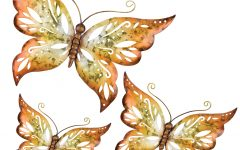 3 Piece Capri Butterfly Wall Decor Sets