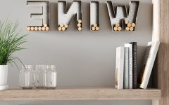 "4 Piece ""wine"" Letter Set Cork Holder Wall Décor Set"