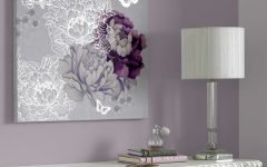 Lilac Canvas Wall Art