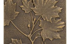Aluminum Maple Leaf Wall Decor