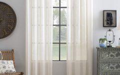 Archaeo Slub Textured Linen Blend Grommet Top Curtains
