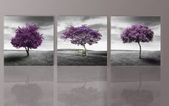 Purple and Grey Wall Art