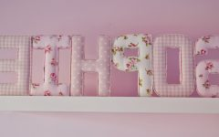 Fabric Wall Art Letters