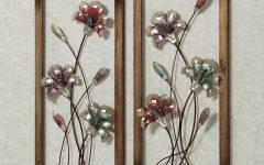Metal Flowers Wall Art