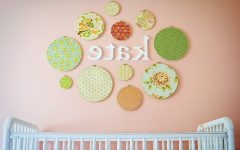 Fabric Circle Wall Art