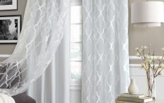 Bethany Sheer Overlay Blackout Window Curtains