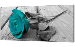 Black and Teal Wall Art