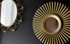 Black and Gold Wall Mirrors