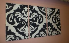 Black and White Fabric Wall Art